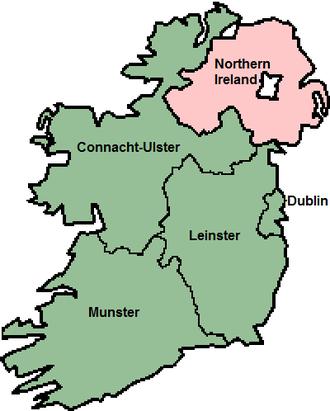 1979 European Parliament election in Ireland - 1979–2004 European Parliament Ireland constituencies