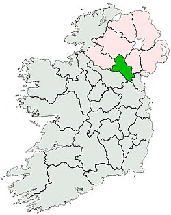 Location of Coonty Monaghan