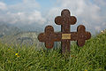 Iron cross on the way to the top of Moldoveanu.jpg