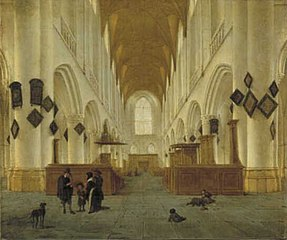 View inside the Saint Bavo Church in Haarlem