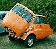British Registered Lhd 3 Wheeled Isetta