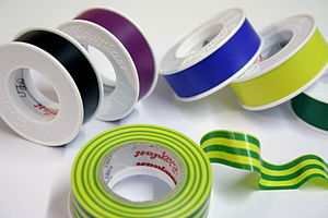 Electrical tape - A selection of color-coded electrical tapes.
