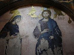 Istanbul - S. Salvatore in Chora - Nartece - Cristo e Maria - Foto G. Dall'Orto 26-5-2006