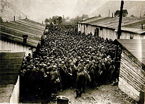 1917 in Italy - Italian POWs after the Battle of Caporetto.