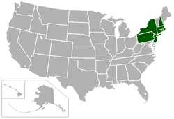 Locations of Ivy League schools