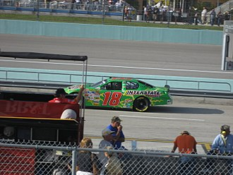 J. J. Yeley - Yeley practicing for the 2007 Ford 400 at the Homestead-Miami Speedway
