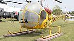 JMSDF Kawasaki Bell 47G-2A(8753) left front view at Kanoya Naval Air Base Museum April 29, 2017 02.jpg