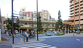 JR Sobu-Main-Line Ichikawa Station South Exit(cropped).jpg