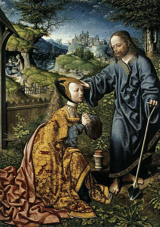 Jacob Cornelisz. van Oostsanen - Christ Appearing to Mary Magdalen as a Gardener - WGA05260
