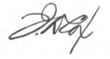 Signature de Jacob Dolson Cox