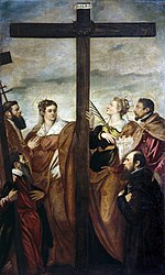 Jacopo Tintoretto - Sts Helen and Barbara Adoring the Cross - WGA22434.jpg