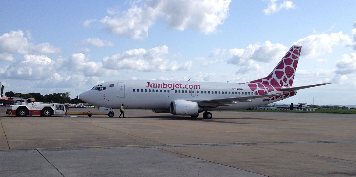 Jambojet B737-300 5Y-KQA  - Africa's Low-Cost Airlines