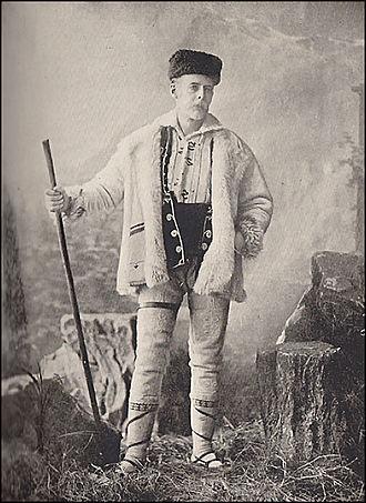 James David Bourchier - James Bourchier in a Bulgarian national costume