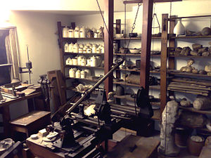 The inside of James Watt's garret workshop, pr...