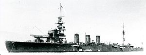 Japanese cruiser Kinu in 1931.jpg