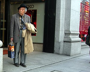 A cool old guy in ginza, Tokyo
