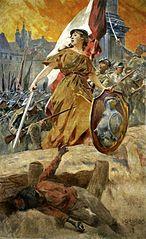 Alegoria zwycięstwa w 1920 roku (Warszawo naprzód)