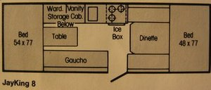 Jayco, Inc - Image: Jayco camper trailer floor plan