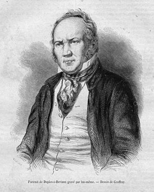 Jean Duplessis-Bertaux - Engraved self-portrait by Duplessis-Bertraux