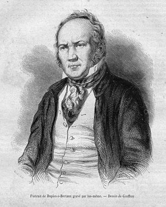 Jean Duplessis-Bertaux - Engraved self-portrait by Duplessis-Bertraux