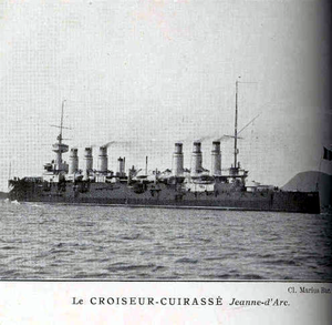 French cruiser Jeanne d'Arc (1899) - Image: Jeanne d Arc cruiser Bar
