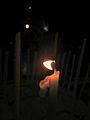 Jerusalem Golgotha II - Solitary candle (6035748089).jpg