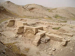 Jericho - Dwelling foundations unearthed at Tell es-Sultan in Jericho