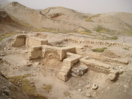 A dwelling unearthed at Tell es-Sultan, Jericho - History of Palestine