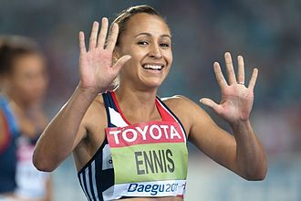 Jessica Ennis-Hill - Ennis during the 2011 World Athletics Championships in Daegu