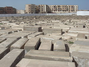 Religion in Morocco - A Jewish cemetery in the city of Essaouira.