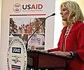 Jill Biden speaking at a USAID event in Kyiv, Ukraine.jpg