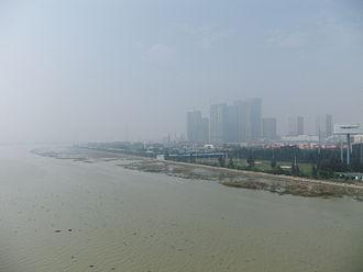 Jin River (Fujian) - Image: Jin River seen from Zitong Bridge north side DSCF8719