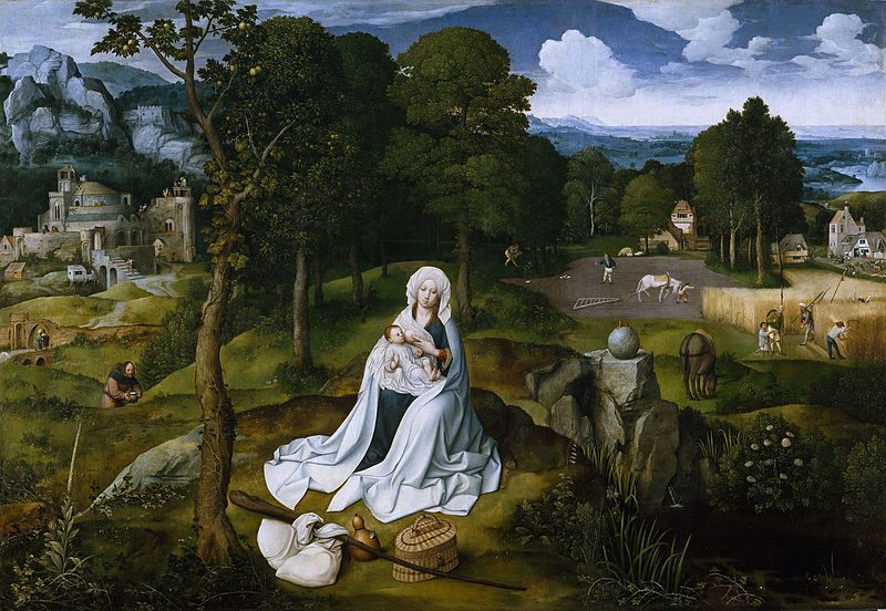 File:Joachim Patinir - Rest during the Flight to Egypt, Museo del Prado.jpg