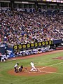 Joe Mauer bats at the Metrodome on June 11, 2006.jpg