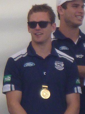 Joel Selwood - Selwood at Geelong's 2011 premiership parade.