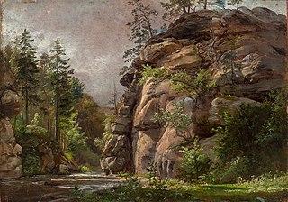 River between steep Rocks