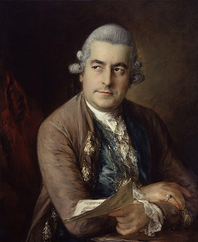Иоганн Кристиан Бах. Портрет работы Томаса Гейнсборо, 1776г.
