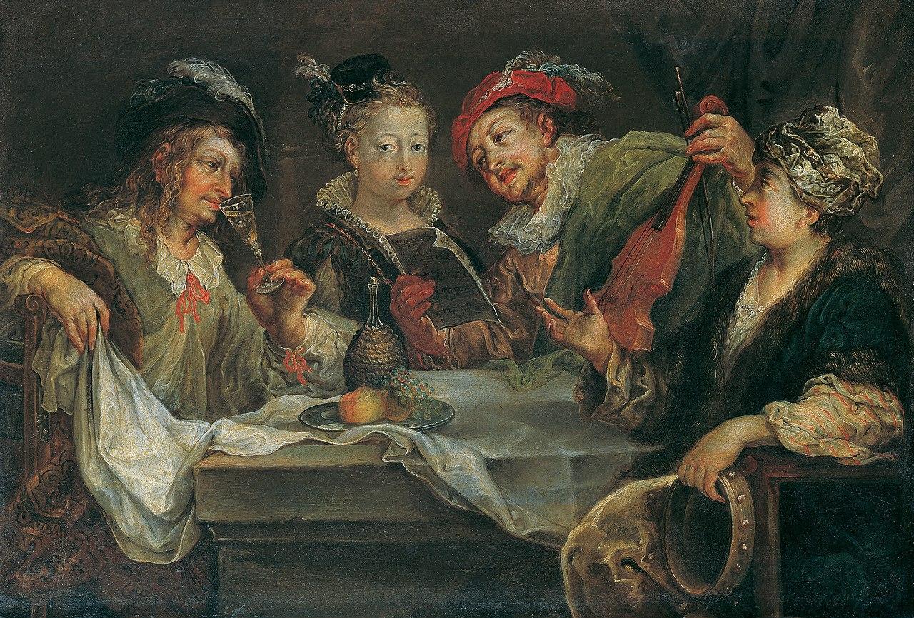 Johann Georg Platzer - Belustigung nach dem Mahle - 4093 - Kunsthistorisches Museum.jpg
