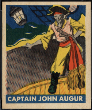 John Auger - Captain John Auger (Auger/Augier), from the 1948 Leaf Pirates trading card set