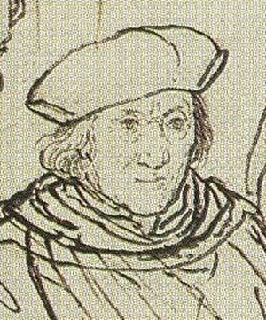 John More (judge) - John More, detail from a Holbein's sketch for the More family portrait