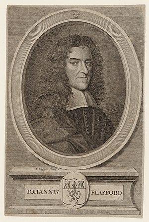 John Playford - John Playford portrait by David Loggan