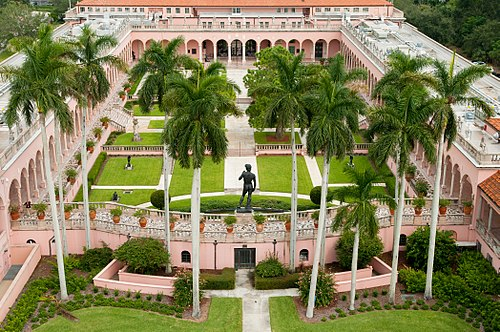 Ringling Museum of Art courtyard John and Mable Ringling Art Museum Courtyard Aerial.jpg