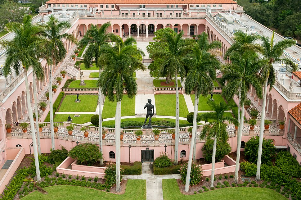 John and Mable Ringling Art Museum Courtyard Aerial