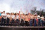 Joint Base San Antonio military ambassadors join Fiesta royalty, special guests to kickoff Fiesta San Antonio 150416-N-UR169-019.jpg