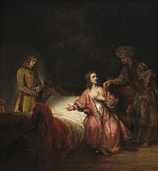 Rembrandt: Joseph accused by Potiphar's wife