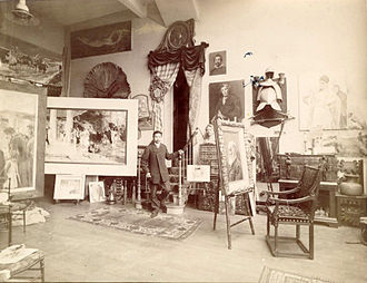 Juan Luna - Juan Luna in his Paris studio.