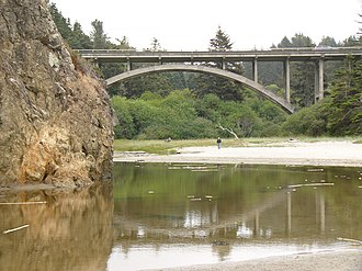 Mendocino, California - Jughandle Creek bridge