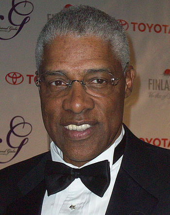 English: Julius Erving on the red carpet at th...
