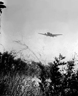 Αεροσκάφος Junkers Ju 52 κατά τη διάρκεια της μάχης της Κρήτης