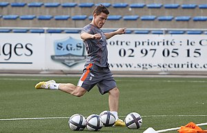 Kevin Gameiro - Gameiro training with Lorient in 2010